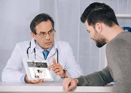 consultation with a men's health doctor